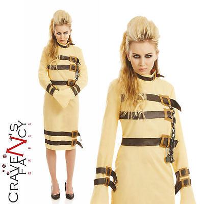 Ladies Escape Artist Straight Jacket Costume Halloween Fancy Dress Hannibal - Straight Jacket Womens Halloween Costume