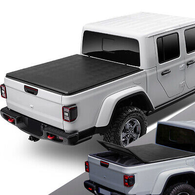 For 2020 Jeep Gladiator JT Pickup Truck Bed Soft Folding Tri-Fold Tonneau Cover Jeep Gladiator Truck