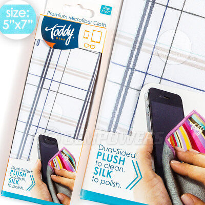 Toddy GEAR Premium Microfiber Smart Cloth iPad & Touch Screen Cleaning 5x7 Knurd