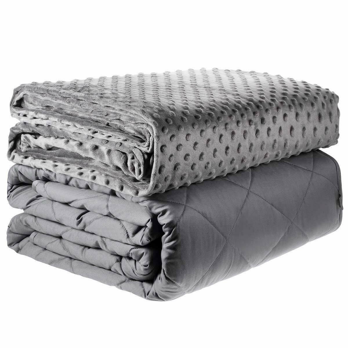 """Adult Weighted Blanket 48 x 72"""" / 60 x 80"""" Queen or Twin wit"""