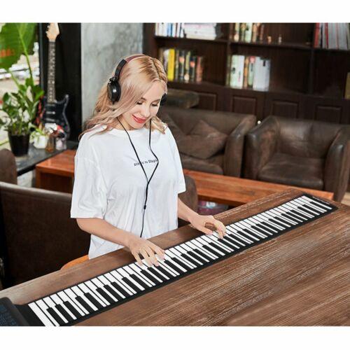 Electronik Keyboard Klaviertastatur 88 Keys Roll Up Piano Rollpiano Flexible