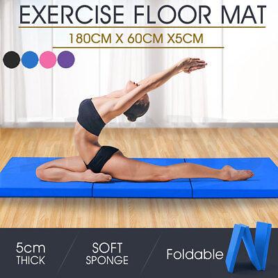Gymnastik Übung Tri Zusammenfaltbar Matten Crash Boden 5cm Dick Tumbling Yoga