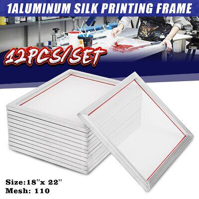 12 Pack 18 X22 Aluminum Silk Screen Printing 110 Mesh Press Frame Screens