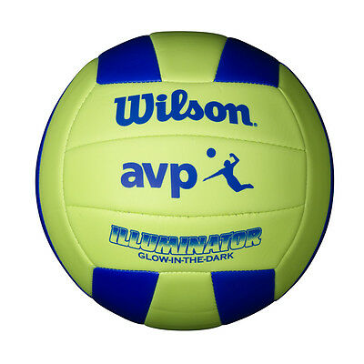 WILSON GLOW IN THE DARK VOLLEYBALL , SYNTHETIC LEATHER OFFICIAL SIZE (Glow In The Dark-volleyball)