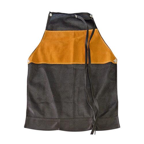 Heat Resistant Leather Welding Bib Shop Apron Blacksmith Mechanic Smock USA MADE