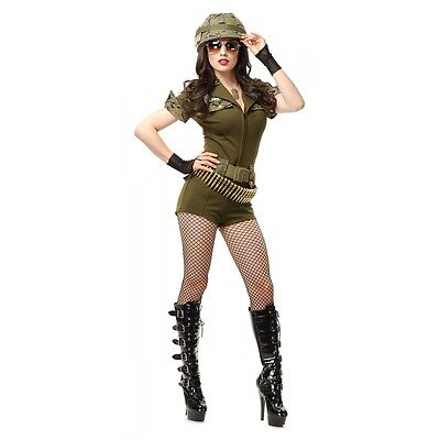 Sexy Army Girl Costume Adult Halloween Fancy Dress