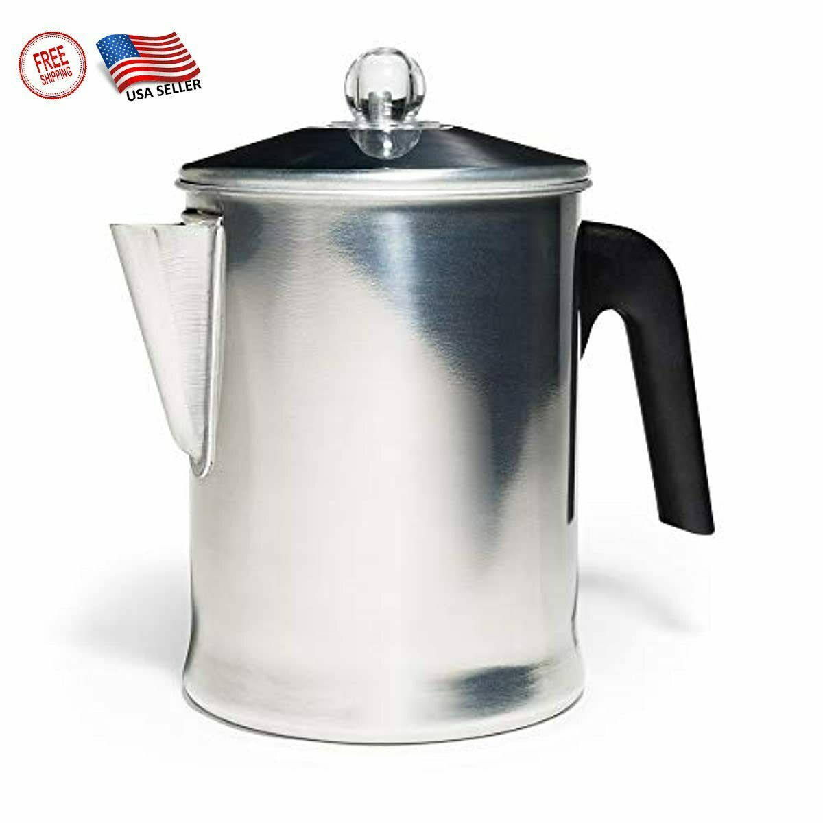 Durable Heavy Duty Stove Top Percolator Yosemite Coffee Pot