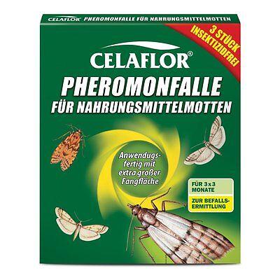 Celaflor Pheromon-Falle für Nahrungsmittelmotten-3St.Motte Mehlmotte Futtermotte