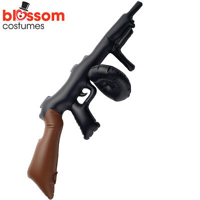 AC49 1920s 20s Gatsby Inflatable 75cm Tommy Gun Gangster Costume Prop Accessory