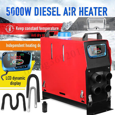 5KW 12V All In One Diesel Air Heater LCD Thermostat Boat Motorhome Truck Trailer