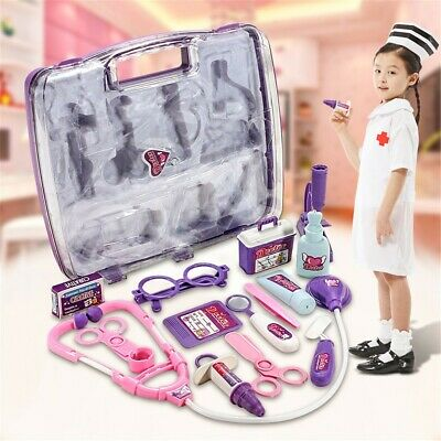 Doctor Nurse Medical Playset Kit Pretend Play Tools Case Toy