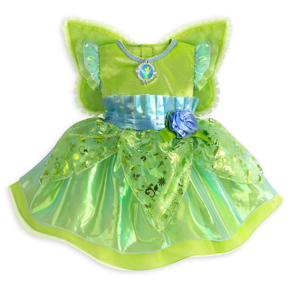 NWT Disney Store Tinker Bell Deluxe Costume Baby Girl 3 6 12