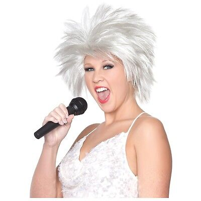 80s Pop/Rock Star Wig Adult Tina Turner Halloween Costume Fancy Dress Accessory (Tina Turner Halloween)