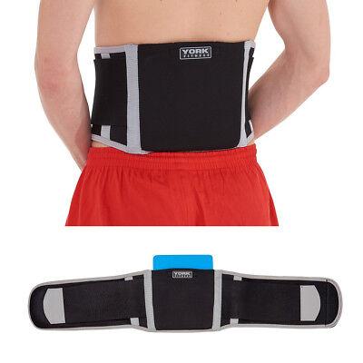 York Lower Back Support Adjustable Lumbar Sports Belt Brace and Pad