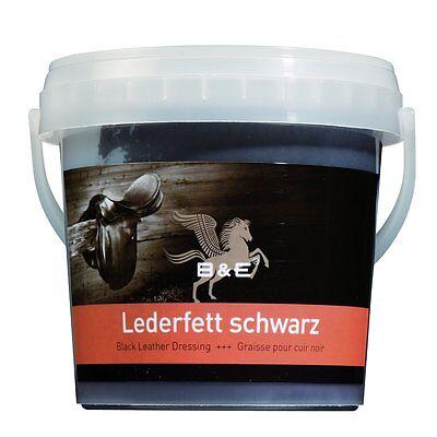 B & E Lederfett - 500 ml - schwarz - Lederpflege schwarzes Fett Pflege