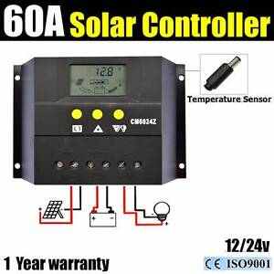 60A 12V-24V LCD Charge Controller Solar Panel Regulator PWM Wangara Wanneroo Area Preview