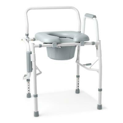 Medline G98204 Guardian Padded Drop-Arm Commode