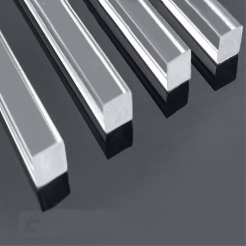 US Stock Square 8pcs Clear Acrylic Plexiglass Lucite Rod Bar 6 x 6mm 250mm Long