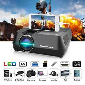 1600Lumens Portable LED Mini Projector Wired Sync Display Home Doveton Casey Area Preview