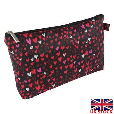 Toiletry Bag Womens Black Travel Cosmetic Holder Case Makeup Bags Organiser