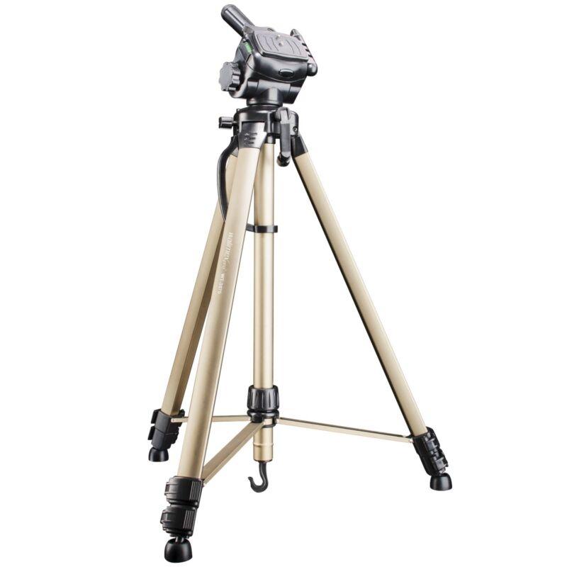 walimex WT-3570 Alu Dreibeinstativ Kamerastativ Stativkopf 3D-Neiger, 1,65m