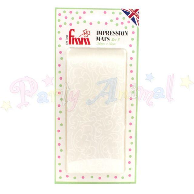 FMM Texture Impression mats -VINTAGE LACE Pack of 2 Icing Embosser Sugarcraft