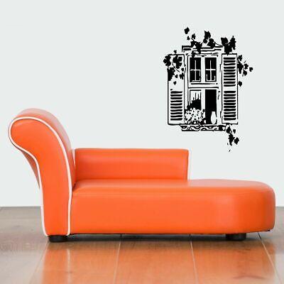 Wall Vinyl Sticker Decals Mural Design Cute Garden 3D Window With Shutters #739 Garden Design Decal