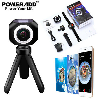 360° Panoramic WiFi Sport Action Camera HD 4K 1080P Remote DVR Video Camcorder
