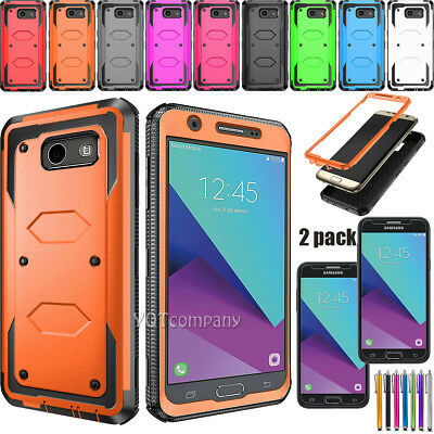 For Samsung Galaxy J3 2017/Luna Pro/Emerge/Prime 2 Case Cover + Screen Protector