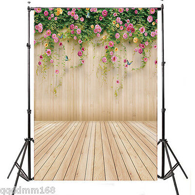 Flowers Wall vinyl photography Backdrop Background studio prop 3X5FT 14-656