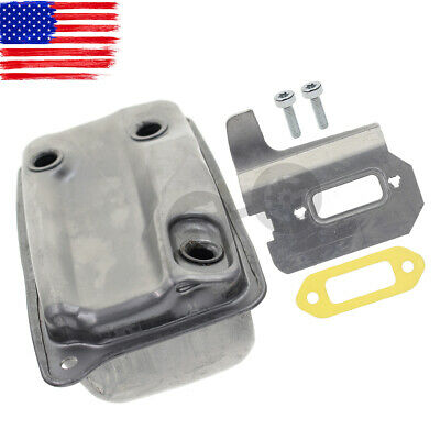 Muffler For Stihl Ts410 Ts420 Gasket And Cooling Plate 4238-140-0611 Screws