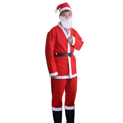Herren-Kostüm Santa Weihnachtskostüm Weihnachtsmannkostüm Weihnachtskleid DHL