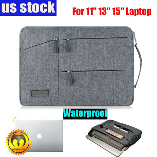 "Slim Waterproof Sleeve Case Carry Cover Bag for 11/13/15"" Ma"