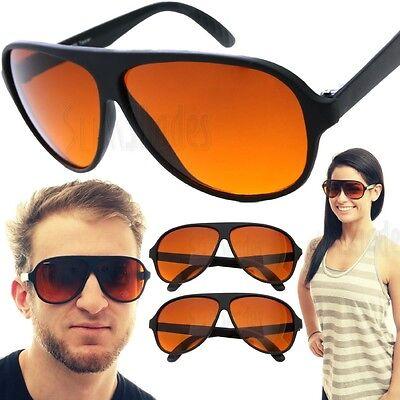 Orange Sunglasses Bulk (2 PAIR Aviator BLUE BLOCKER Sunglasses with Amber)