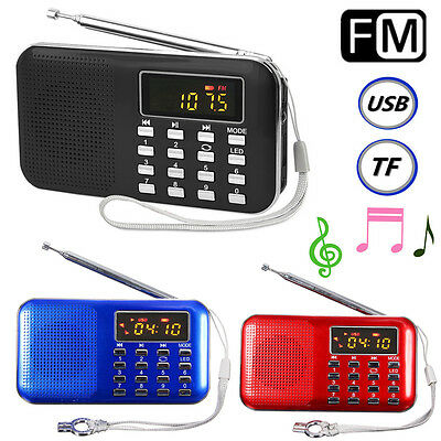 Mini Portable LED Digital FM Radio Speaker USB Micro SD TF Card MP3 Music Player