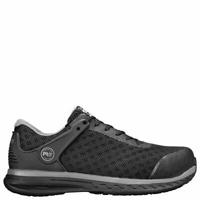 Composite Safety Toe Shoes - Timberland PRO Mens Drivetrain Composite Safety Toe Black Work Shoes