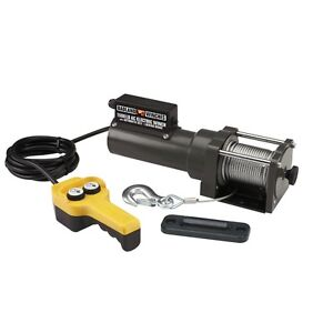 NEW 1500 Lb. Capacity 120 Volt 35 Foot Cable Remote Controlled AC Electric Winch