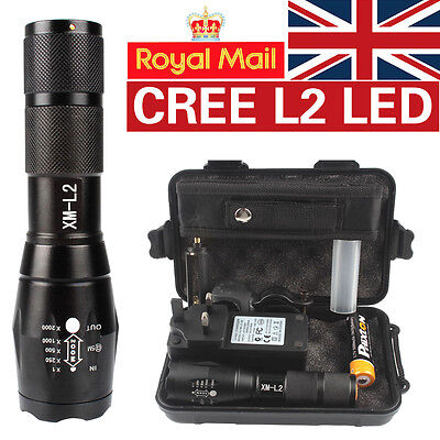 X800 Shadowhawk 8000lm Tactical Flashlight CREE L2 LED Military Torch Gift Kit