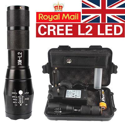 X800 Shadowhawk 8000lm Tactical Flashlight CREE L2 LED Military Torch Gift Kits