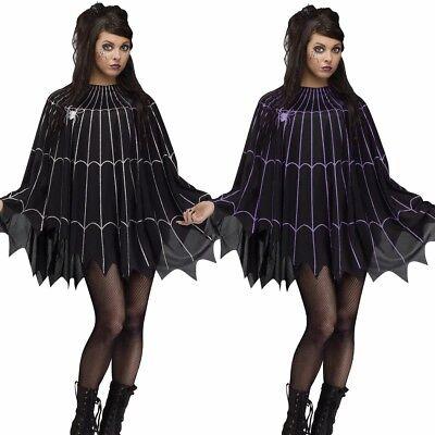 Spider Web Poncho Costume Adult Creepy Spiderweb - Fast Ship - Spiderweb Costume