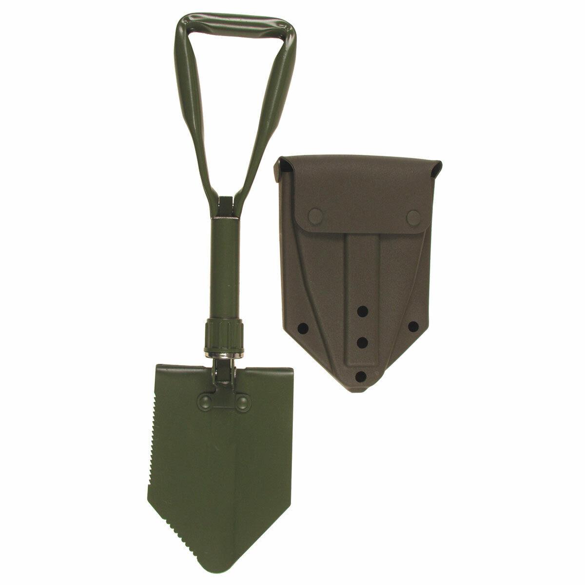 BW Bundeswehr Klappspaten mit Original Tasche Spaten Feldspaten Alu oliv Hülle