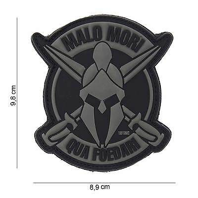 NEW 3D PVC 101 Inc Malo Mori Spartan Military Army Tactical Morale Patch Black