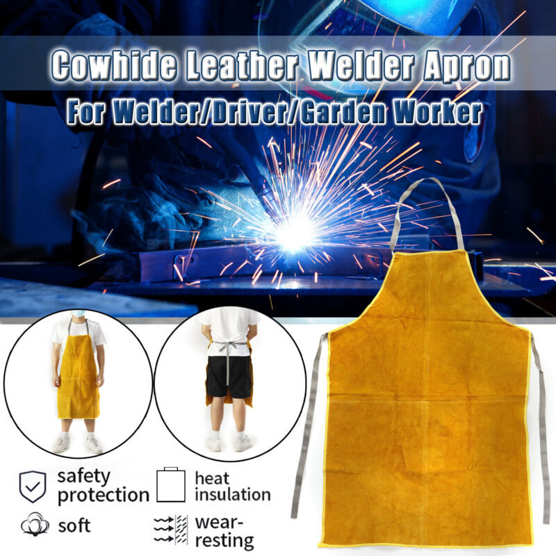 Welder Apron Protection Leather Heat Insulation Gear Equipment Cowhide USA