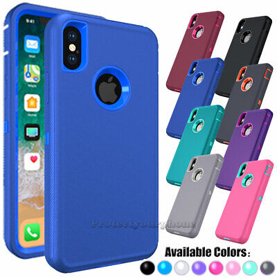 For iPhone 5C 5S 6S 8 7 Plus XR 11 Phone Case Hybrid Shockproof Armor Hard Cover