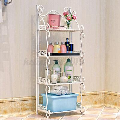 4 Schicht Badezimmer Regal Buch Weiß DVD Küche Aufbewahrung Schublade Standregal