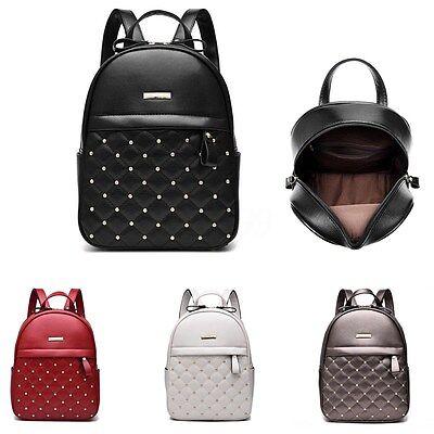 Zaino Donna Ragazza Pelle Zainetto Borsa Spalla Scuola Viaggio Backpack Bag New