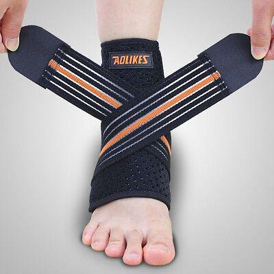 Achilles Tendon Support Brace - Ankle Brace & Achilles Tendon Support Wrap Sleeve Adjustable Neoprene Tendinitis