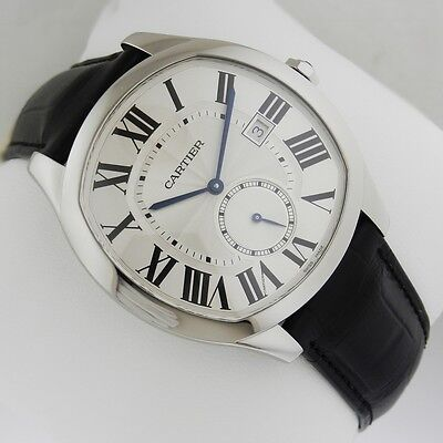 CARTIER Drive Automatic WSNM0004 Stainless Steel Leather NEW Silver Ret: $6,250