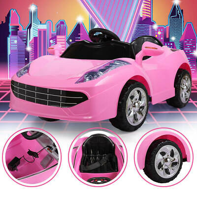 6V Kids Ride on Car with Music Light RC Remote Control Pink Toys Gift