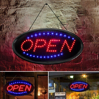Led Ultra Bright Neon Light Open Business Sign Store Animated Motion Bars Cafes